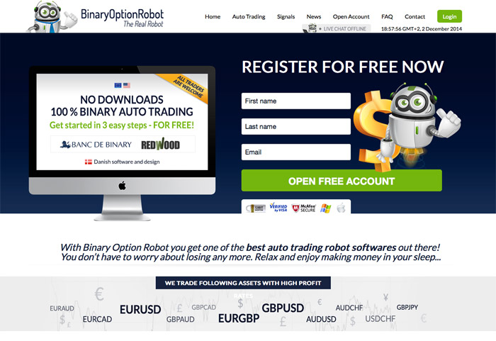 Binary option robot scam review